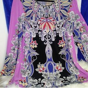 Susan Graver XL butterknit print tunic- looks new!